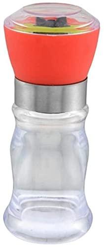 SpiceRack Botella de plástico para triturar a Mano Sal Molinillo de Pimienta Afilado de Cuchillos Molinillo de Especias de Chile-Molinillo de Sal Negro Salero Molinillos de Pimienta Molinill