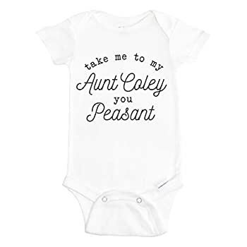 Take Me To My Aunt Baby Onesie - Take Me To My Aunt You Peasant Onesie for Baby - Funny Aunt Onesie for Baby - Funny Aunt Bodysuit for Baby - Personalized Baby Onesie - Birthday Onesie from Aunt