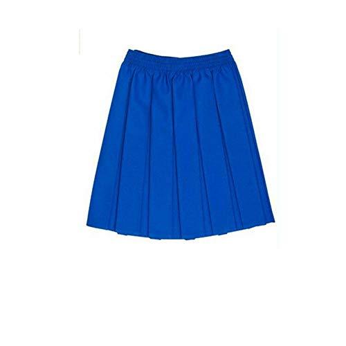 CreativeMinds UK uniforme scolastica ragazze estate formale vestito fondo completo elastico box pieghe gonna solo Uniform Blu reale 7-8 Anni