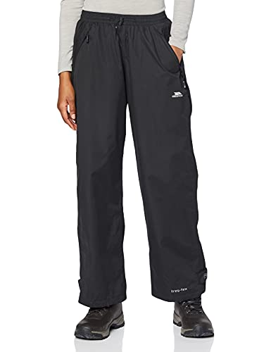 Trespass - Pantalones impermeables Modelo Tutula Mujer Señora - Excursiones/Montaña/Senderismo (Extra Grande (XL)) (Negro)