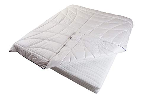 Merino Wool Duvet CLASSIC COMFORT Bedding Quilt White Cotton Covered + Wool Filling 8-10.5tog 500gsm Medium Weight (160x200cm)