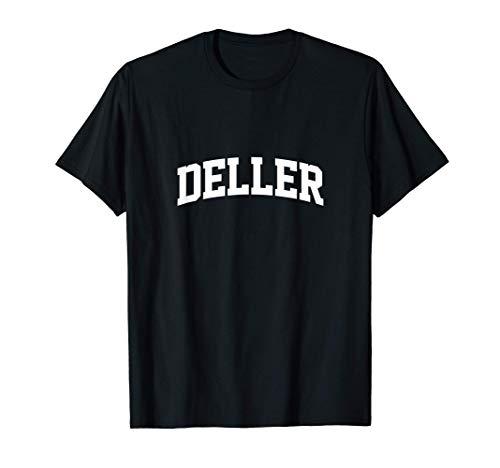 Deller Name Family Vintage Retro Sports Arch T-Shirt