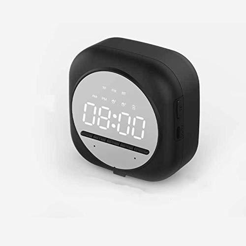 ZHBB Reloj despertador con radio digital de repetición, reloj de mesa de despertar con luz electrónica de visualización del reloj de decoración del hogar