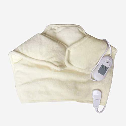 JJDD'G Manta Electrica Térmica para Hombros y Cuello, Auto-Apagado, 6 Niveles de Temperatura, Lavable a Máquina – para Cuello y Hombros,Blanco
