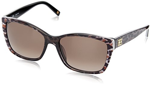 Escada Ses307M gafas de sol, Grey (Shiny Lepoard Pattern Grey), talla única para Mujer