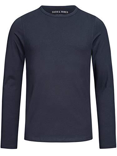 JACK & JONES - Maglietta Storm Sweat, Manica Lunga, Uomo, Blu (Blau (Navy Blue)), L