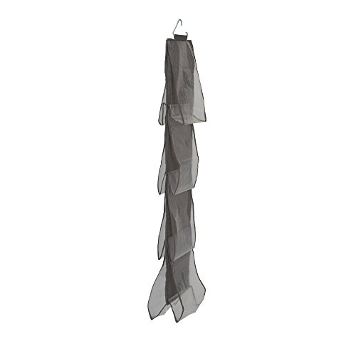 Household Essentials 66490 Linen 8 Pocket Hanging Handbag Storage Organizer Gray
