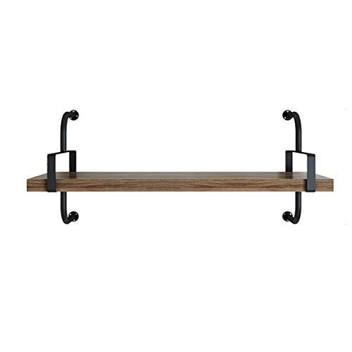 Zwevende planken smeedijzeren grenen scheidingswand, slaapkamer/woonkamer/keuken/badkamerwandopslag decoratief rek 80cm