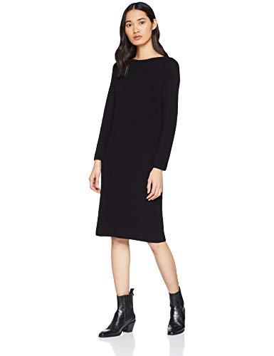 BOSS Damen Iesibessa Kleid, Blau (Black 001), Medium