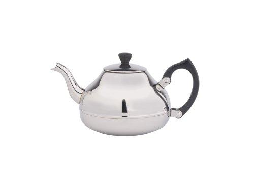 einwandige Teekanne Ceylon 0,75 ltr. Mit schwarzen Beschläge
