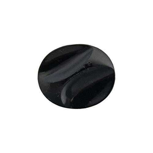 KIYOHARA チェコ ガラスボタン 10号 22.5mm 1個 #000 楕円型 2707-10