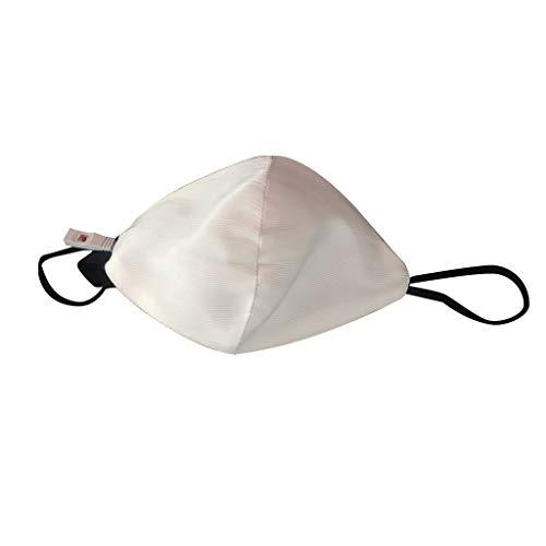 Blinkende Maske LED Maske für Männer Frauen Bunte leuchtende leuchten Masken für Raves Cosplay Partys Karneval Halloween Maskerade (Weiß)