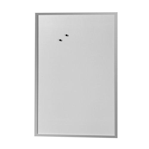 Herlitz 10524635 Whiteboard und Magnettafel Schreibtafel 60 x 80cm weiß mit Holzrahmen silber mit Holzrahmen silber