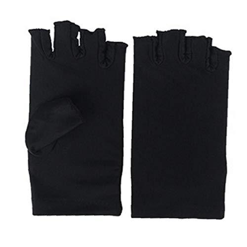 Nail Dryer Anti UV Protection hand sleeve Led Lamp Radiation UV Shield Fingerless hand sleeve Nail Art Dryer Tools for Fashion Home 1 Pair Black