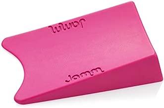 Jamm Door Stopper | Door Stop Wedge Holds Doors Open in Both Directions | Premium Non Rubber Non Slip Hardware | Standard Size | Cerise Pink - 1 Pack