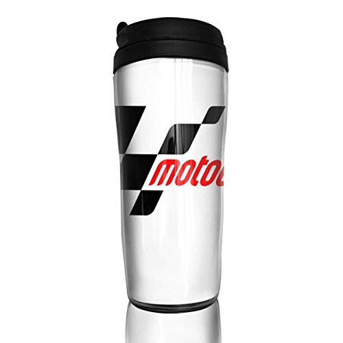 Qurbet Tazza da Viaggio da caffè, Bottiglia d'acquas, Moto GP, Portable Insulated Organic Coffee Mug Coffee Tumbler for Kids Teens Adults
