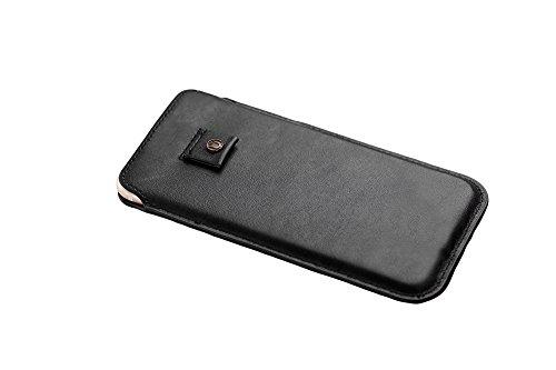 Cronus & Rhea® | Borsa di lusso per smartphone con cordoncino in pelle esclusiva (Athena) | Samsung Galaxy S8 | Cassa | Vera pelle | Con elegante scatola regalo | Uomini - Donne (Nero)