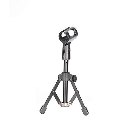 """Neewer Mini Stand di Microfono da Tavolo in Metallo Pieghevole con Supporto Clip, Struttura Durevole con Convertitore 3/8"""" a 5/8"""" per Conferenze, Podcast & Lezioni ecc."""