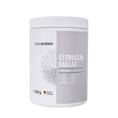 L - Citrullin Malat - 500g - direkt vom Hersteller aus Deutschland & Laborgeprüft - BetterProtein® - hochdosierte Aminosäuren zum Muskelaufbau und Abnehmen - Vegan -