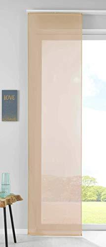 Gardinenbox Juego de Cortinas correderas, 100% poliéster, 245 x 60 cm, Color Arena