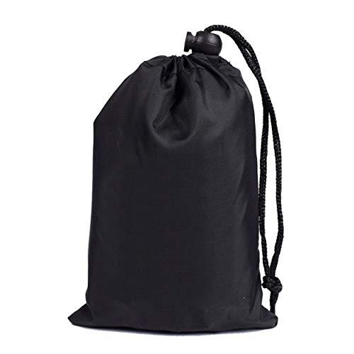 Tsubaya Waterproof Backpack Rain Cover Portable Adjustable Shoulder Bag Case Raincover Protect for Outdoor Hiking Unisex - Black