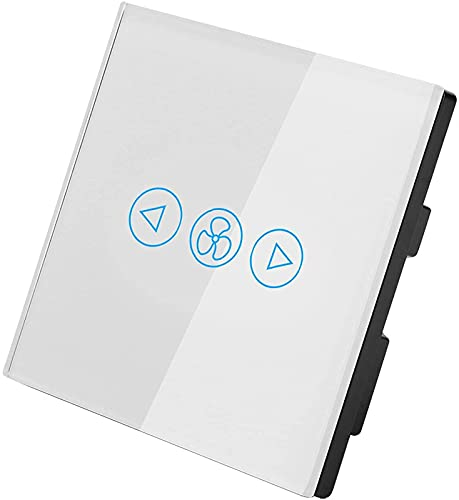HTOUR Fan Elegante WiFi, Soporte del Interruptor del Control de Velocidad para el estándar del Reino Unido de Google Home/Amazon Alexa