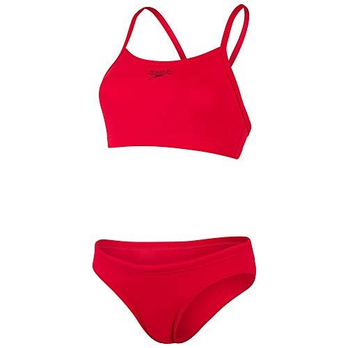 Speedo Essential Endurance+ Thinstrap 2 Piece, Bikini Donna, Fed Red, 42 (UK 20)