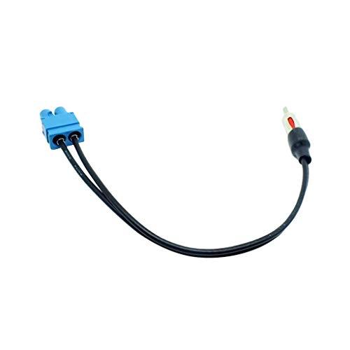 MagiDeal Adaptateur d'Antenne pour Radio Double-Mâle Câble de Voiture pour VW Audi