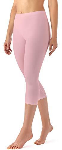 Merry Style Damen Leggings 3/4 aus Viskose MS10-144 (Puderrosa, M)