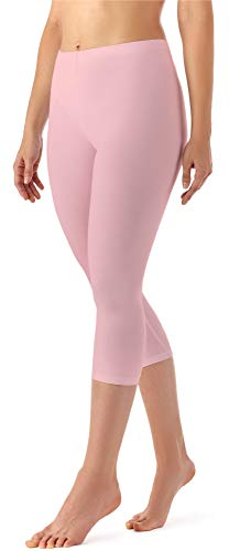 Merry Style Damen Leggings 3/4 aus Viskose MS10-144 (Puderrosa, XL)
