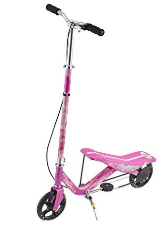 Rockboard RBX (Pink) Tretroller mit Schwungrad, Wippscooter, per Luftdruckdämpfer Angetriebener Roller mit Bremsen, Luftfederung,für Kinder ab 6 Jahren