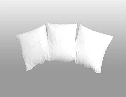 Kneer Lattokiss Jersey Bezug 35x80 cm mit Reißverschluß Farbe weiß (01)