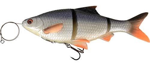Savage Gear 3D Linethru Roach 18cm Gummifisch für Hecht, Hechtköder, Angelköder zum Hechtangeln, Köder zum Hechtfischen, Farbe:Roach (Rotauge), Länge/Gewicht/Schwimmverhalten:18cm/80g/langsam sinkend