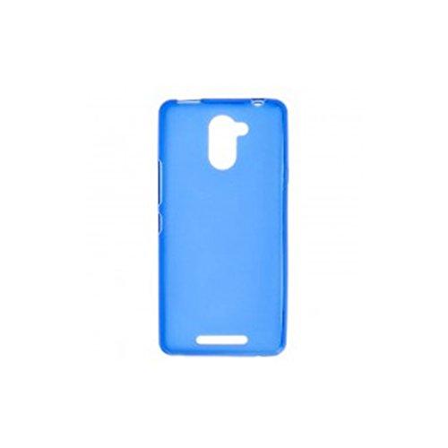 Mb Accesorios Funda Carcasa Gel Azul para BQ AQUARIS U Plus, Ultra Fina 0,33mm, Silicona TPU de Alta Resistencia y Flexibilidad
