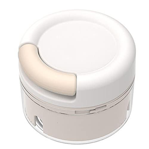 GFDRT Ajo Master Cocina Nin Nikimen Grinder Mini Suplementos de Alimentos Máquina de cocción Cortador de Vegetales multifunción Creativa(Tarjeta Blanca)