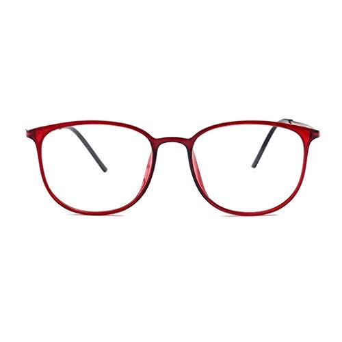 Augenoptik Brille 2.0, Großer Full Frame Lesebrille, Klare Sichtscheibe, Brillen, Damen modren, progressives blaues Licht, Computer-Frühlings-Scharnier-Brille 1.5 3.0 ( Color : Red , Size : 1.0 )