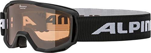 ALPINA Unisex - Kinder, PINEY Skibrille, black, One size