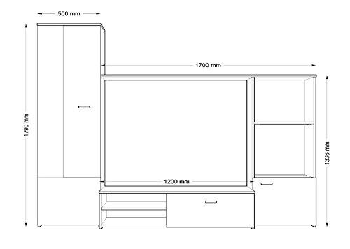 Wohnwand –  HUGO Anbauwand Wohnzimmer Möbel kaufen  Bild 1*