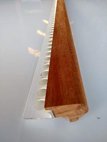 Mamperlán perfil madera Niagón para peldaño y escalera 1,00mt L30