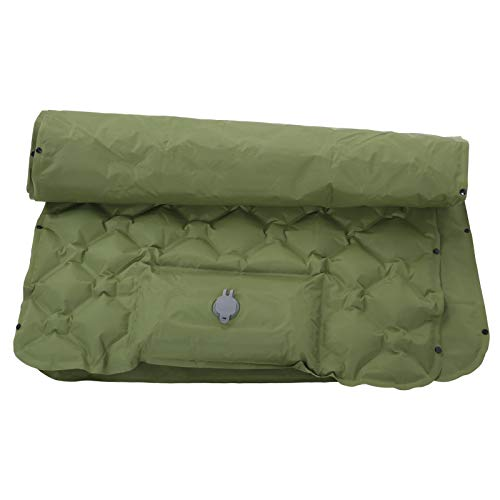 Surebuy Colchón de Aire, colchoneta Verde Militar de Nailon para Dormir 40D cómoda para Acampar hacia Fuera(Ejercito Verde)