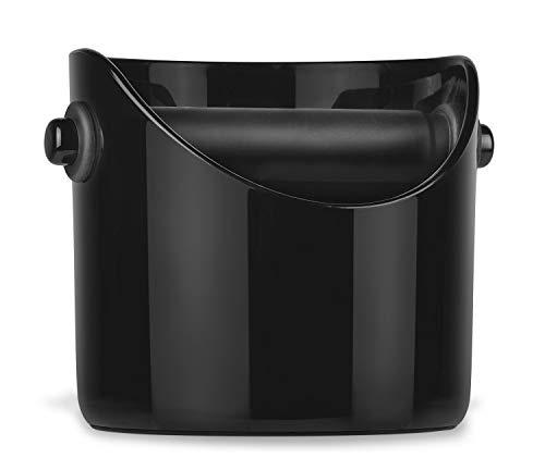 Grindenstein Abklopfbehälter für Kaffeesatz Jet-Black tiefschwarz - Robuste und praktische Lösung für alle Liebhaber von Kaffee und Kaffeemaschinen! by ARTUROLUDWIG