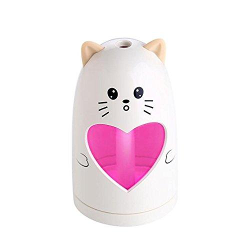 SCZLSYL Meng humidificador de corazón ultrasónico USB purificador de aire dormitorio del estudiante oficina humidificador del hogar , beige adorable meow