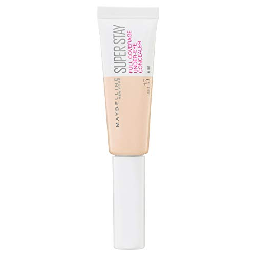 Maybelline New York Super Stay Under-Eye Concealer, 15 Light, 6 ml