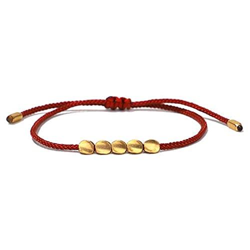 WANGJINGHUA Fiesta Bricolaje Decoraciones 3 PCS Señoras Hechas a Mano Tibetano Braidy Beads Colorful Lucky Rope Pulsera Joyería Decoraciones (Color : 6)
