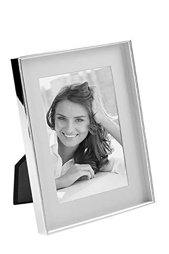 Fink Fotorahmen Bilderrahmen Kim - Metall versilbert mit Anlaufschutz 10x15 cm