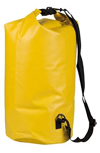 Idena 24000 - Seesack aus PVC, wasserdichte Tasche mit Tragegurt, 30 Liter, gelb, ideal für Camping, Wassersportler und auf Reisen