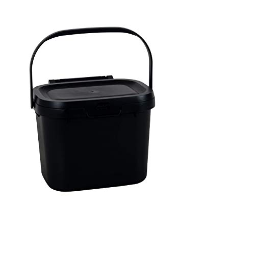 Addis Eco 100 Plastic Everyday Kitchen Food Waste Compost Caddy Bin 45 Litre Recycled Black