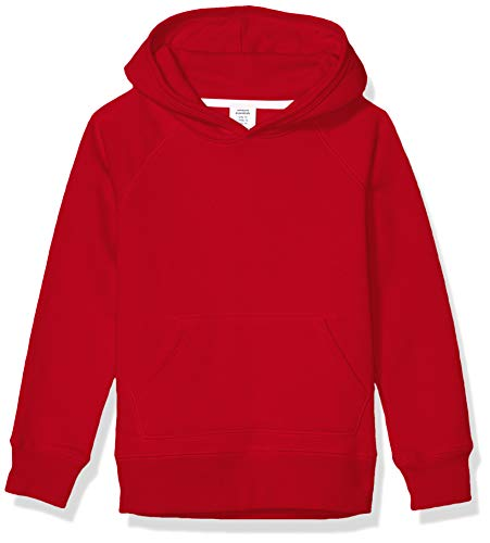Amazon Essentials Girl's Pullover Hoodie Sweatshirt, Red, X-Small