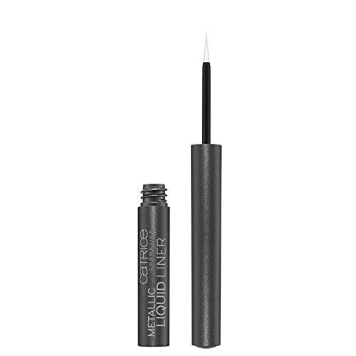 Catrice Cosmetics Metallic Liquid Liner Eyeiner avec une pointe feutre innovante pour application précise, n°020 I'm Going Grey-Zy, 1.7 ml, 0.05 fl.oz.