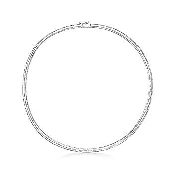 white gold omega necklace